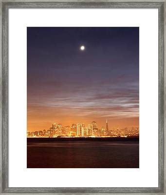 Moon And Sf From Treasure Island Framed Print by Rob Kroenert