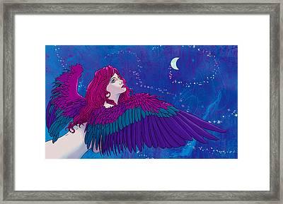 Moon Angel Framed Print by Vincent Danks