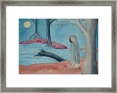 Moon Blanket Framed Print by Linda Pope