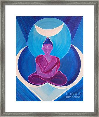 Moon Buddha By Jrr Framed Print