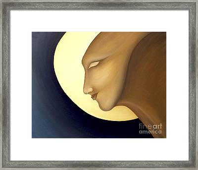 Moon Diva Framed Print