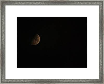 Moon Face Framed Print by Jeanne Andrews