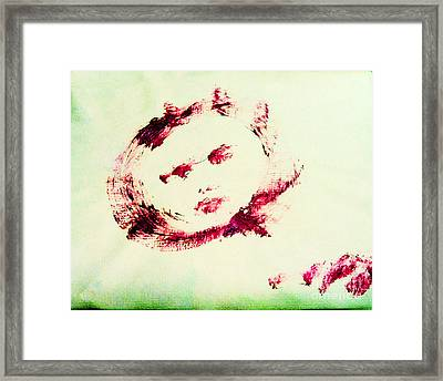 Moon Face Framed Print by Raul Morales