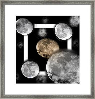 Moon From The Country Framed Print by Betsy Knapp