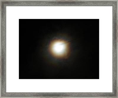 Framed Print featuring the photograph Moon Glow by Diannah Lynch