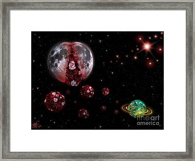 Moon In Labour Framed Print by Rosa Cobos