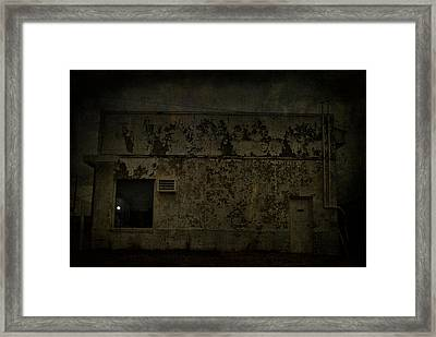 Moon In The Window Framed Print by Emily Stauring