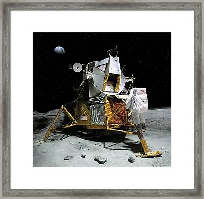 Moon Landing, 21 July 1969 Framed Print by Detlev Van Ravenswaay