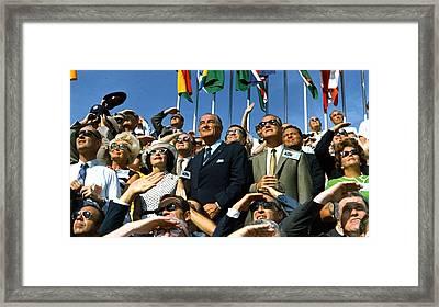 Moon Launch. Vice President Spiro Agnew Framed Print by Everett
