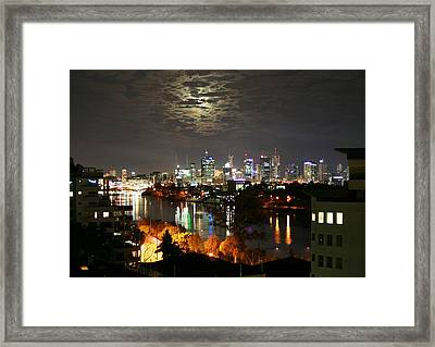 Moon Light Lace Of Brisbane Framed Print