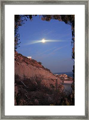 Moon Over Cabo Framed Print