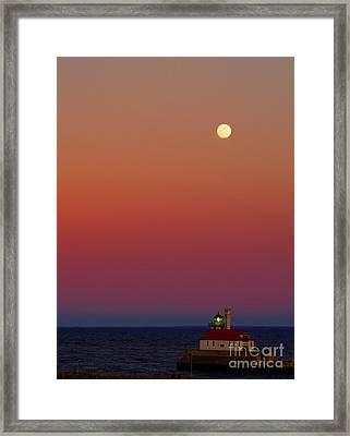 Moon Over Canal Park II Framed Print