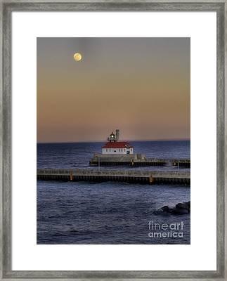 Moon Over Canal Park Framed Print