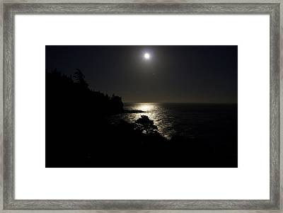 Framed Print featuring the photograph Moon Over Dor by Brent L Ander