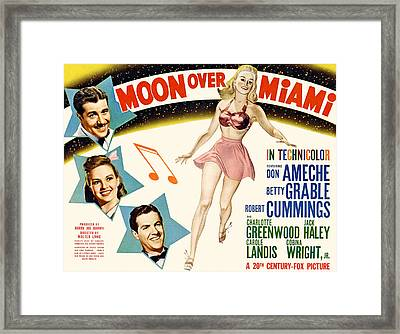 Moon Over Miami, Don Ameche, Betty Framed Print by Everett