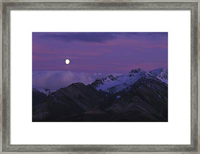 Moon Over Mountains Framed Print by Nick Norman