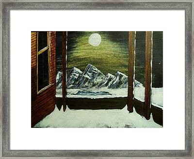 Moon Over The Mountains Framed Print by Gordon Wendling