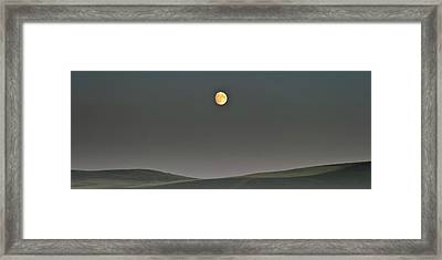 Framed Print featuring the photograph Moon Over The Palouse by Albert Seger