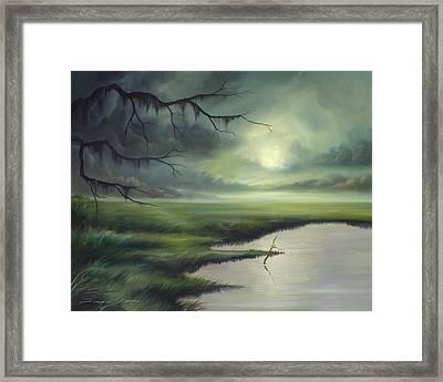 Moon Over Wadmalaw Island  Framed Print