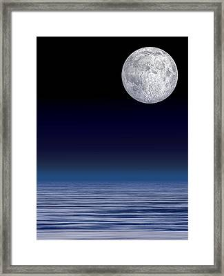 Moon Over Water Framed Print by Laguna Design
