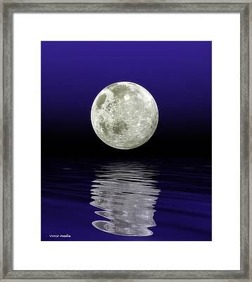 Moon Over Water Framed Print by Victor Habbick Visions