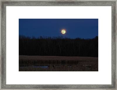 Framed Print featuring the photograph Moon Rise 2 by Steven Clipperton