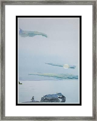 Moon Rise Framed Print by John  Schwind