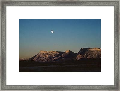 Moon Rise Over Mesa Verde Framed Print