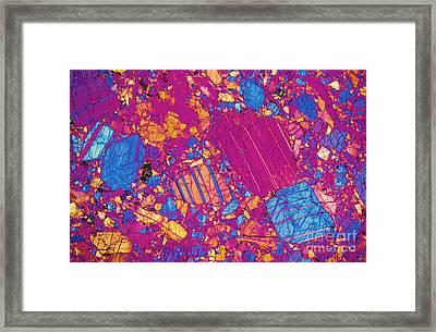 Moon Rock, Transmitted Light Micrograph Framed Print by Michael W. Davidson - FSU
