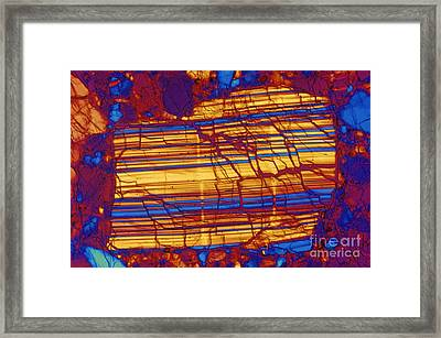 Moon Rock, Transmitted Light Micrograph Framed Print by Michael W. Davidson