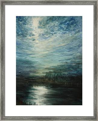 Moon Shimmer Framed Print by Estephy Sabin Figueroa