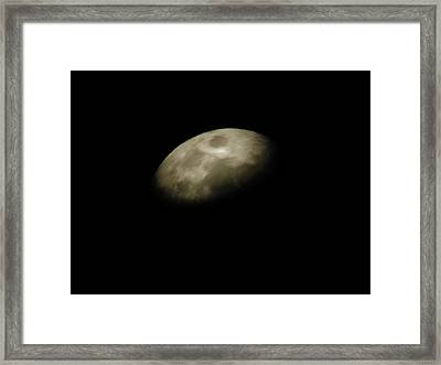 Moon Side Framed Print by Aliesha Fisher