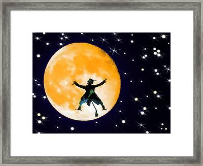 Moon Splat 2 Framed Print by Steve Ohlsen