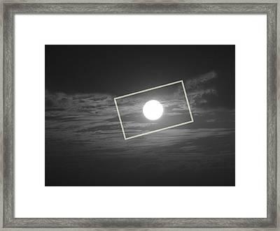 Moon Square Framed Print by Prashant Ambastha