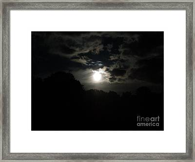 Moon Storm Framed Print by Linda Seacord
