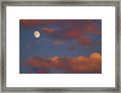 Moon Sunset Framed Print