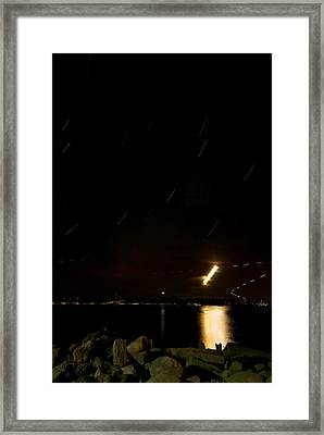 Moon Trail Framed Print by Mike Horvath