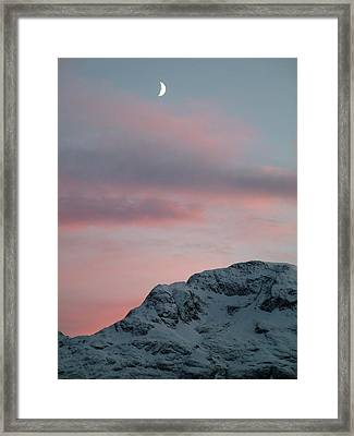 Moon, Upper Engadine, St. Moritz Framed Print by Remo Steuble - Switzerland
