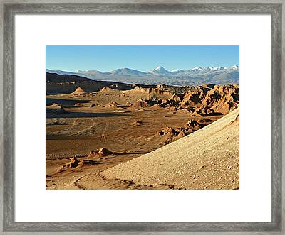 Moon Valley Atacama Desert Framed Print
