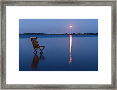 Framed Print featuring the photograph Moon View by Gert Lavsen