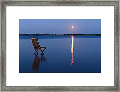 Moon View Framed Print by Gert Lavsen