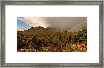 Moonbow Over The Kancamagus Framed Print
