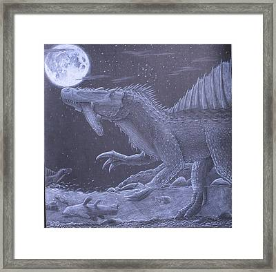 Moonfisher Framed Print by David Pry