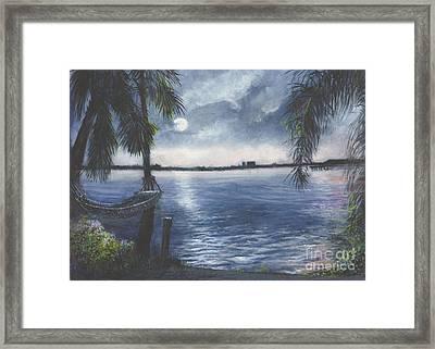 Moonlight At Madeira Beach Framed Print by Joan Cornish Willies