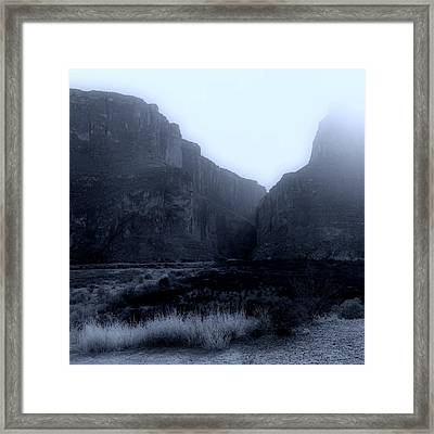 Moonlight Big Bend Park And Rio Grand River Framed Print
