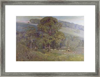 Moonlight In The Cotswolds Framed Print by Sir Alfred East