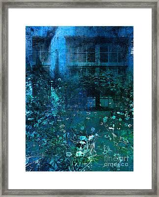 Moonlight In The Garden Framed Print by Ann Powell