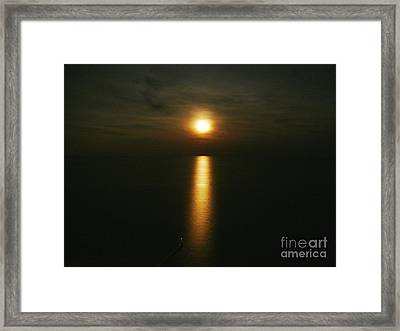 Moonlight Over The Sea _ Lido De Jesolo Framed Print by AmaS Art