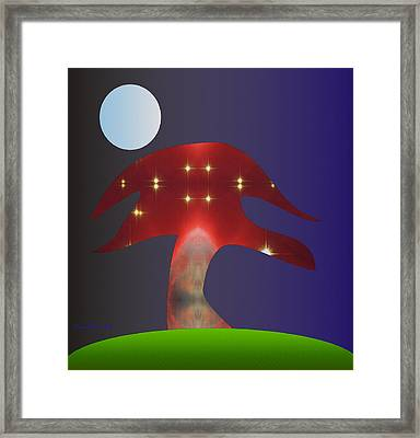 Framed Print featuring the digital art Moonlight Sonata by Asok Mukhopadhyay