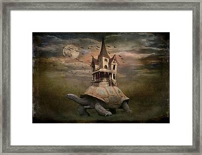 Moonlight Traveler Framed Print by Marie  Gale